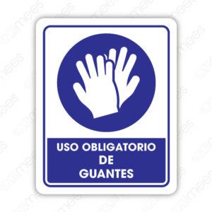 SCD 001 Señalamiento Uso Obligatorio de Guantes