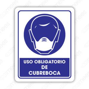 SCD 002 Señalamiento Uso Obligatorio de Cubreboca