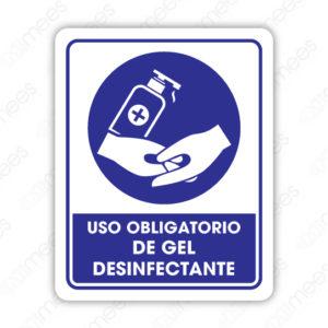 SCD 005 Señalamiento Uso Obligatorio de Gel Desinfectante