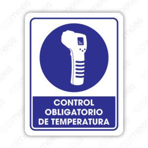 SCD 006 Señalamiento Control Obligatorio de Temperatura