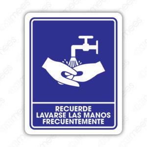 SCD 008 Señalamiento Recuerde Lavarse las Manos Frecuentemente