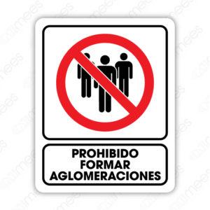 SCD 012 Señalamiento Prohibido formar Aglomeraciones