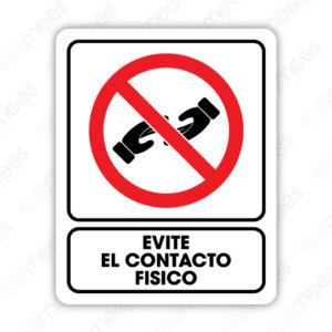SCD 013 Señalamiento Evite el Contacto Físico