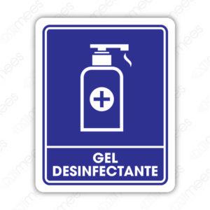SCD 018 Señalamiento Gel Desinfectante