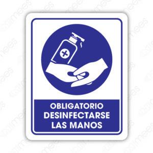SCD 021 Señalamiento Obligatorio Desinfectarse las Manos
