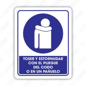 SCD 022 Señalamiento Toser y Estornudar con el Pliegue del Codo o en un Pañuelo