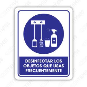 SCD 023 Señalamiento Desinfectar los Objetos que se Usan Frecuentemente