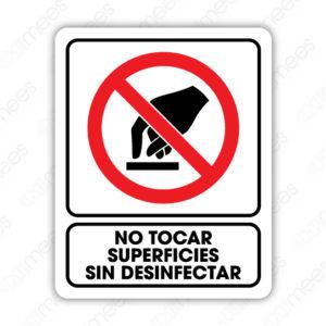 SCD 024 Señalamiento No Tocar Superficies sin Desinfectar