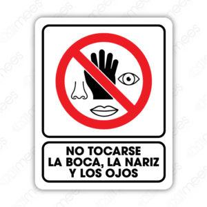 SCD 026 Señalamiento No Tocarse la Boca, la Nariz y los Ojos