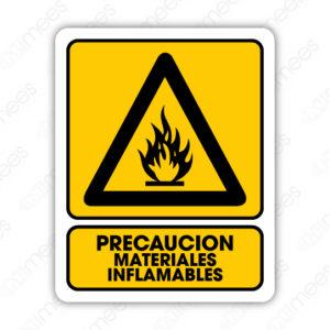 SPR 003 Señalamiento Precaución Materiales Inflamables
