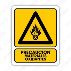 SPR 005 Señalamiento Precaución Materiales Oxidantes