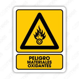 SPR 006 Señalamiento Peligro Materiales Oxidantes