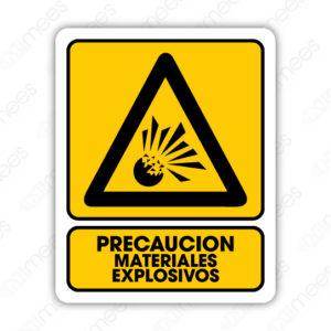 SPR 007 Señalamiento Precaución Materiales Explosivos
