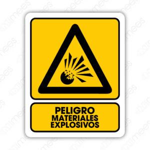 SPR 008 Señalamiento Peligro Materiales Explosivos