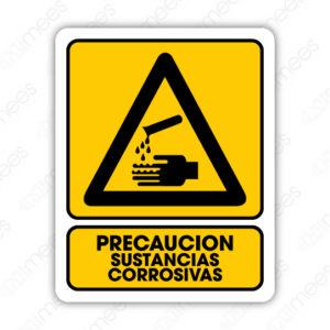 SPR 009 Señalamiento Precaución Sustancias Corrosivas