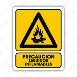 SPR 013 Señalamiento Precaución Líquidos Inflamables