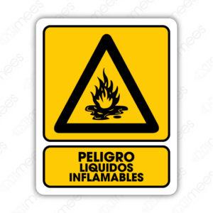SPR 014 Señalamiento Peligro Líquidos Inflamables