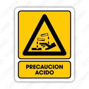 SPR 015 Señalamiento Precaución Acido