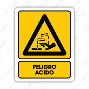 SPR 016 Señalamiento Peligro Acido