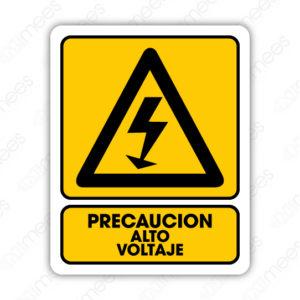 SPR 017 Señalamiento Precaución Alto Voltaje