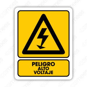 SPR 018 Señalamiento Peligro Alto Voltaje