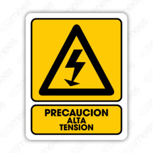 SPR 019 Señalamiento Precaución Alta Tensión
