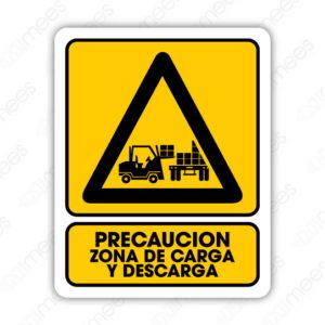 SPR 036 Señalamiento Precaución Zona de Carga y Descarga (Monta Cargas)