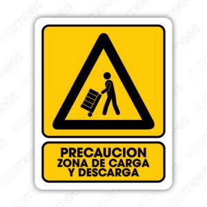 SPR 038 Señalamiento Precaución Zona de Carga y Descarga (Persona)