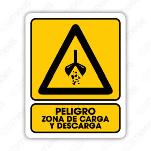 SPR 039 Señalamiento Peligro Zona de Carga y Descarga (Maquina)