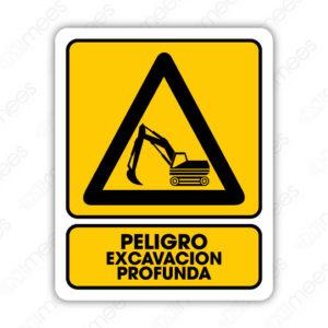 SPR 040 Señalamiento Peligro Excavación Profunda