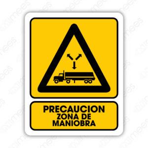 SPR 042 Señalamiento Precaución Zona de Maniobra