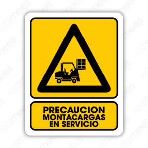 SPR 043 Señalamiento Precaución Montacargas en Servicio