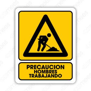 SPR 045 Señalamiento Precaución Hombres Trabajando