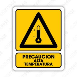 SPR 046 Señalamiento Precaución Alta Temperatura
