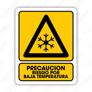 SPR 048 Señalamiento Riesgo por Baja Temperatura