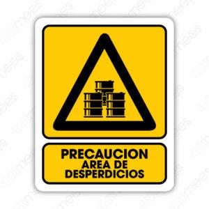 SPR 050 Señalamiento Precaución Area de Desperdicios