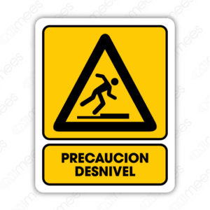 SPR 060 Señalamiento Precaución Desnivel