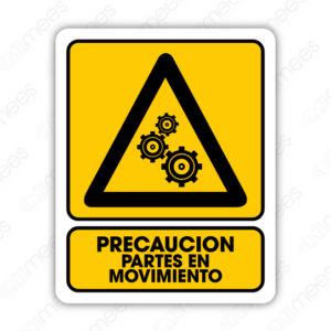 SPR 061 Señalamiento Precaución Partes en Movimiento