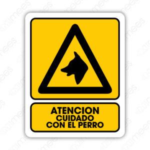 SPR 072 Señalamiento Atención Cuidado con el Perro