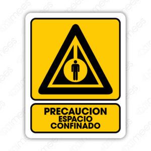 SPR 074 Señalamiento Precaución Espacio Confinado