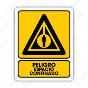 SPR 075 Señalamiento Peligro Espacio Confinado