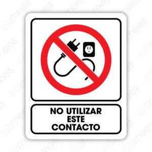 SRO 018 Señalamiento No Utilizar Este Contacto