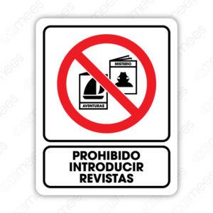 SRO 024 Señalamiento Prohibido Introducir Revistas