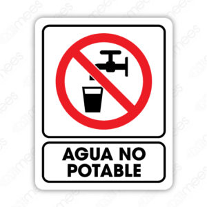 SRO 025 Señalamiento Agua No Potable