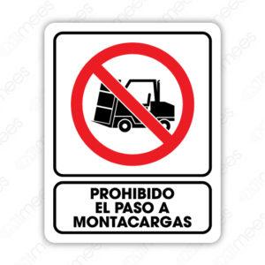 SRO 027 Señalamiento Prohibido el Paso a Monta Cargas