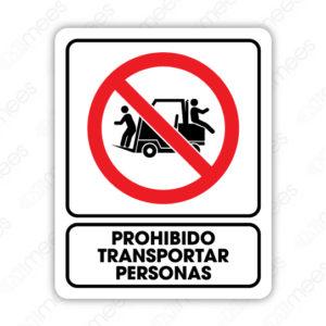 SRO 028 Señalamiento Prohibido Transportar Personas