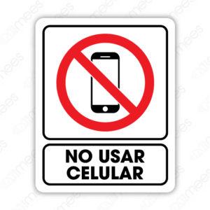 SRO 032 Señalamiento No Usar Celular
