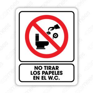 SRO 033 Señalamiento No Tirar los Papeles en el W.C.