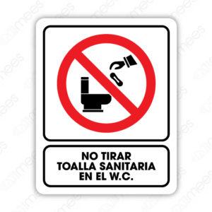 SRO 034 Señalamiento No Tire Toalla Sanitaria en el W.C.