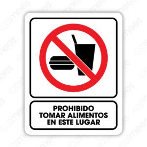 SRO 039 Señalamiento Prohibido Tomar Alimentos en este Lugar